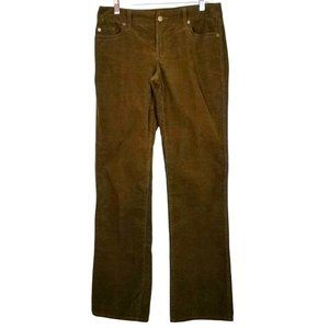 J. Crew Stretch Cotton Mocha Corduroy Bootcut Jeans - Size 4R